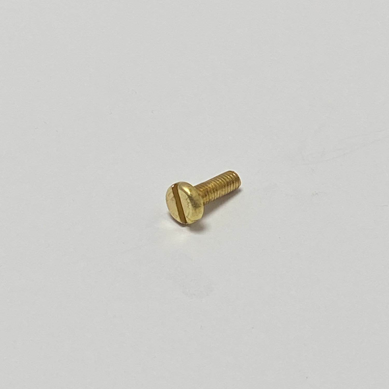 M2.5 X 12 BRASS SLOTTED CHEESE SCREWS